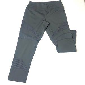 ZELLA | Gray Mesh Cropped Capri Leggings